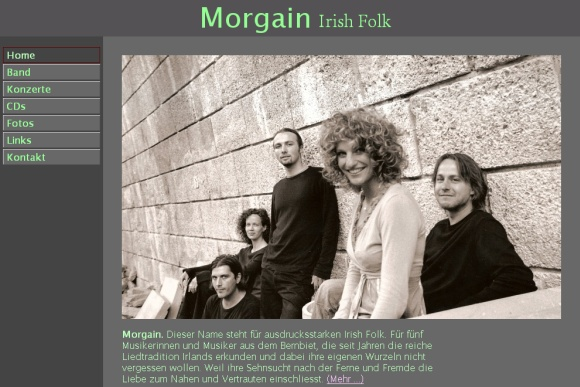www.morgain.ch - Website der Irish Folk Band Morgain aus Bern