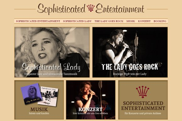 www.sophisticatedlady.ch - Website der Berner Jazz-Band Sophisticated Lady
